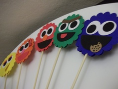 Sesame Street Party , centerpieces, .