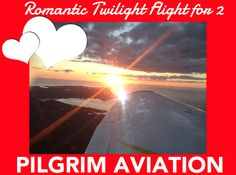 Cape Cod Daily Deal with Pilgrim Aviation. A 60-minute Twilight Flight for two around Cape Cod with a bottle of champagne to take home! Impress that special someone! Treat your #Valentine to a romantic Twilight #Flight for 2! Whether you're looking for epic views day or night, there is simply no better way to celebrate than from an #airplane. Enjoy a private flight as your #pilot flies you through the skies against the backdrop of coastal #CapeCod. http://www.capecoddailydeal.com/