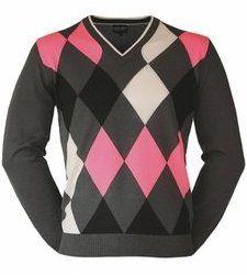 Galvin Green Intarsia Golf Sweater - via Golfblogger