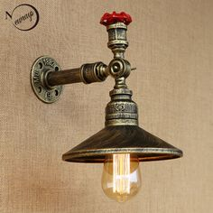 Provided Vintage American Country Style Wall Sconce Loft Coffee Shop Restaurant Bar Home Balcony Retro Single Head Grapefruit Wall Lamp Discounts Price Lights & Lighting