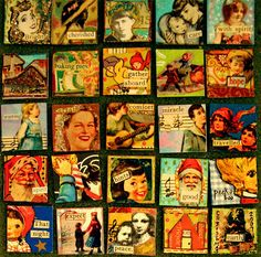 the last 25 inchies to finish artjunkgirl's 1000 squares project