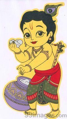 Krishna Janmashtami Wishes, Images, Qoutes, And Messeges Bal Krishna, Krishna Art, Krishna Images, Shiva Art, Hindu Art, Kerala Mural Painting, Indian Art Paintings, Tanjore Painting, Canvas Paintings