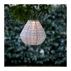 IKEA SOLVINDEN LED solar-powered pendant lamp Black/white 30 cm Helping you save energy and reduce your environmental impact because it is powered by a. String Lights Outdoor, Outdoor Lighting, Power Led, Solar Power, Black Lamps, Affordable Furniture, White Art, Black White, Alternative Energy