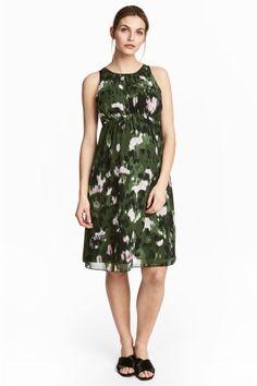 MAMA Платье без рукавов - Зеленый хаки/Рисунок - Женщины | H&M RU