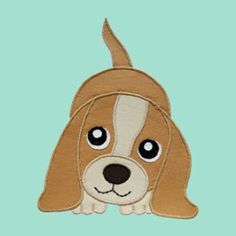 FREE Puppy Dog Applique Pattern | YouCanMakeThis.com