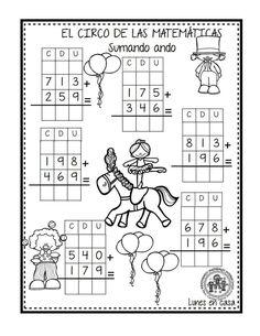 EXCELENTE CUADERNO PARA TRABAJAR UNA SEMANA EL CIRCO DE LAS MATEMÁTICAS - Imagenes Educativas Math Practice Worksheets, First Grade Math Worksheets, 2nd Grade Math, Worksheets For Kids, Math 2, Math Games, Math Activities, Malay Language, Math School
