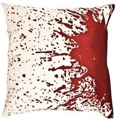 Cuddle Up to Splattered Blood With the Forensic Pillows #pillows trendhunter.com
