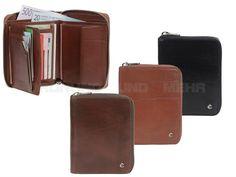 Esquire TOSCANA - Leder Reißverschlussbörse (12KF) Geldbörse Portemonnaie Geldbeutel - 3 Farben