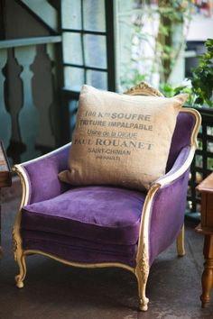 Audrey loves Paris:Purple French Chair