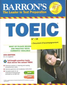 This updated edition of the TOEIC preparation manual includes an enclosed MP3 CD. A high score on the TOEIC is required by many businesses and institutions when considering job applicants whose first language is not English. The enclosed CD provides comprehensive instruction in English language listening comprehension. *************************************** Nouvelle acquisition TOUS DEPARTEMENTS