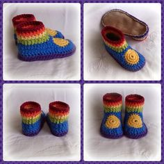 bethshananne crochet rainbow shoes