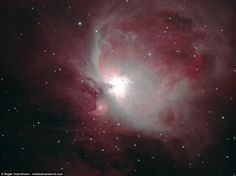 The Great Orion Nebula is situated in the Milky Way, south of Orion's Belt…