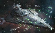 "Star Destroyer : Star Wars ""Intensify Your Forward Batteries""°°"