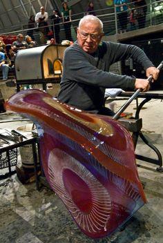 Glassblowing demonstration by Lino Tagliapietra.