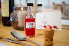 We've tied the knot now take a shot wedding favour idea! By Glass Slipper Weddings