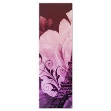 purple floral paris eiffel tower art Yoga Mat
