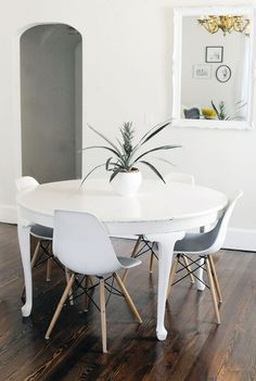Dining chairs: At Home With Lindsey Key-Clouse on A Beautiful Mess