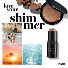 Avon True Color Moonlit Highlighting Powder - The light-reflecting powder delivers all-over sheen—or a targeted glow—with its ultra-fine pearl finish. Makeup To Buy, I Love Makeup, Avon Catalog, Avon True, Oil Shop, Avon Online, Liquid Eyeshadow, Avon Representative, Shops