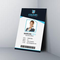 Place Card Template Word, Id Card Template, Birthday Card Template, Free Business Card Templates, Identity Card Design, Employee Id Card, Microsoft Word Free, Create Business Cards, Corporate Id