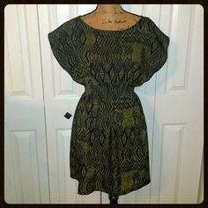 One Clothing Aztec Dress NWOT One Clothing Aztec Dress Green & Black Size Medium M one clothing Dresses