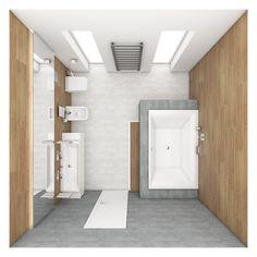 Moderní koupelna NOTE - půdorys