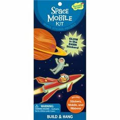 Peaceable Kingdom Glow Space Mobile Quick Sticker Kit by Peaceable Kingdom. $8.88. Build and decorate an imaginative project with this fun, creative quick sticker kit. The project takes 15 to 20 minutes to complete and all components are included.Product Dimensions (inches):