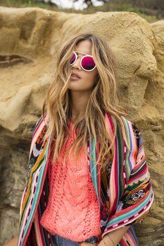Boho Look | Bohemian hippie chic bohème vibe gypsy fashion indie folk the 70s festival style Coachella fashion Free People Enchanted Forest Boho Maxi Dress Rocky Barnes.