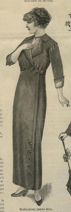 September 1913 Young Ladies collared day dress