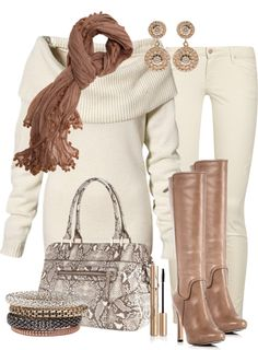 """""""Winter Whites"""" by marnifox on Polyvore"""