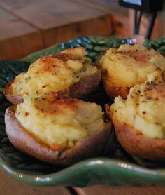 Scrumpdillyicious: Creamy Twice Baked Potatoes