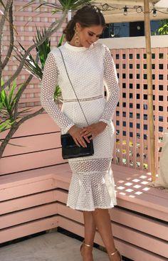 Premiere Lace Dress - White. Love! The perfect white lace semi formal dress!  Nouveau Riche Boutique ea066ee23
