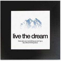 Aurora Products Live the Dream Poster, Size: 20 inch Width x 20 inch Height, Black