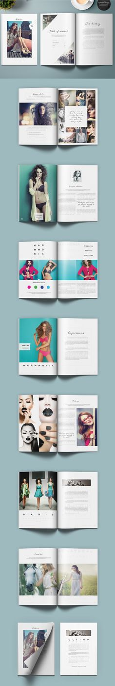Fashion Lookbook 24 Pages Template INDD