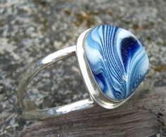 amazing piece of glass, crafted into a ring by Santa Cruz Sea Glass