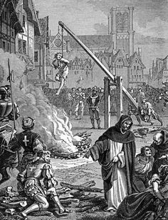 Torture of Huguenots in France after the revocation of the Edict of Nantes, They were Calvinist Protestants and it was Catholic that tortured them. French History, European History, World History, Family History, The Inquisition, Spanish Inquisition, Today In History, History Teachers, Saints