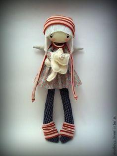 Человечки ручной работы. Ярмарка Мастеров - ручная работа по мотивам Блондиночка с котей Резерв...... Handmade.