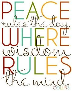 Peace and wisdom quote via Hippie Peace Freaks on Facebook