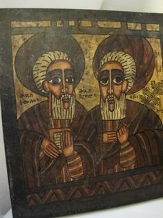 ICON of PETER & PAUL Hand-Painted Artist by MaisonettedeMadness