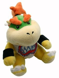 19cm Super Mario Bros Plush San-ei - Bowser Jr by Nintendo
