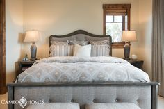 Guest Bedroom in Park City, Utah by Cameo Homes Inc.  Interior Design by MHR Interiors.  Picture Credit:  Lucy Call.