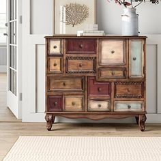 One Allium Way Francesca 2 Door Apothecary Accent Cabinet Extra Storage Space, Storage Spaces, Accent Chest, Cabinets For Sale, Distressed Painting, Furniture Makeover, Furniture Ideas, Furniture Refinishing, Woodworking Furniture