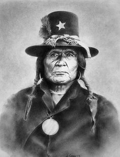 * Tosh-a-Wah or Silver Brooch ~ First chief of the Penateka Comanches, known for his peaceful attitude ~ Artist by: steeelll *