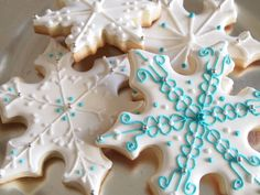 Snowflake cookies- by Auntie Bea's Bakery