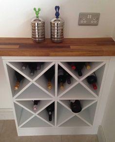 8 Creative Ideas for Making your Own DIY Wine Rack | Decor Snob Furniture Making, Diy Furniture, Wine Rack Furniture, Modern Furniture, Outdoor Furniture, Furniture Stores, Antique Furniture, Wine Rack Inspiration, Unique Wine Racks