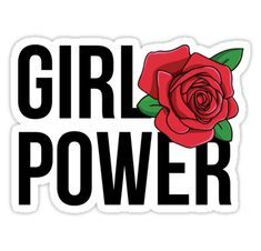 Female power sticker by xo xo Stickers Cool, Tumblr Stickers, Printable Stickers, Laptop Stickers, Planner Stickers, Sticker App, Tumblr Png, Tumblr Hipster, Hipster Ideas