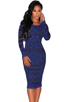 Navy Victorian Net Nude Illusion Long Sleeves Dress – Strawberrys & Champagne