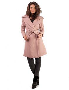 "Palton ""Hold Me Close"" Pink Coat, Jackets, Fashion, Down Jackets, Moda, Sewing Coat, Fashion Styles, Peacoats, Fashion Illustrations"