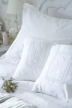 Monogrammed Pillows -- Shabby Chic by Dreamy's Treasures