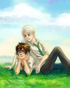 Drarry is wonderland Fem Harry Potter, Harry Potter Draco Malfoy, Harry Potter Ships, Harry James Potter, Harry Potter Movies, Harry Potter World, Drarry Fanart, Couple, Fantastic Beasts