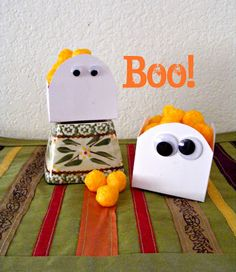 easy and affordable diy ghost snack/treat boxes